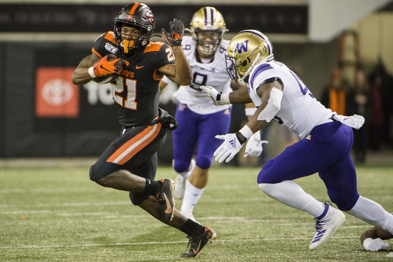 NCAA Football: Washington at Oregon State
